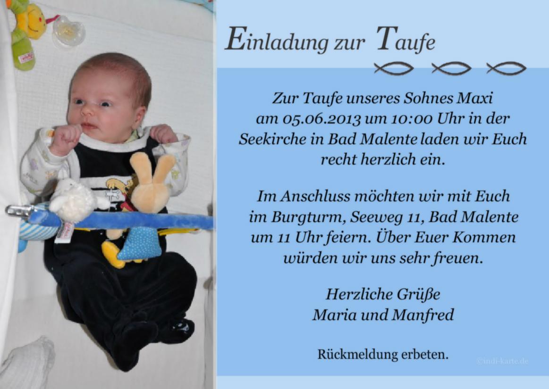 Taufe Einladung Taufe Jungen Einladungskarten Zur Taufe Türkis ...